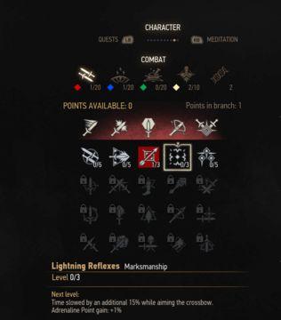 witcher 3 marksmanship skill tree