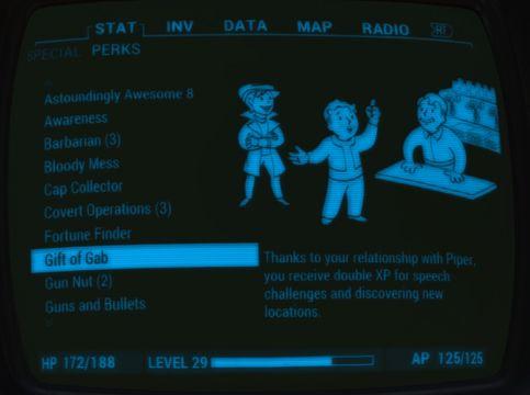 Fallout 4 Companion perk