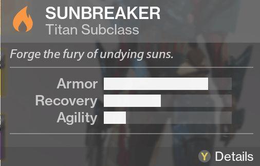 destiny the taken king sunbreaker subclass