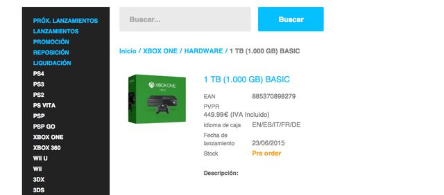 Lamee Software has already put up the 1TB Xbox One for pre-order sale.