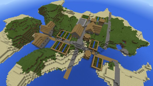 best island village seed minecraft pe 1427837471