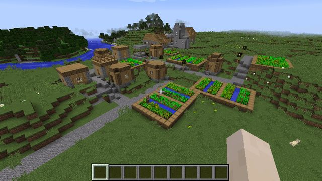 awesome village and cave seed for lazy people