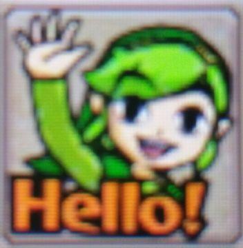 Zelda Tri Force Heroes Placard Emotes Hello