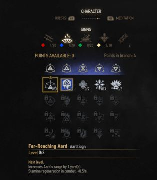 witcher 3 aard sign skill tree
