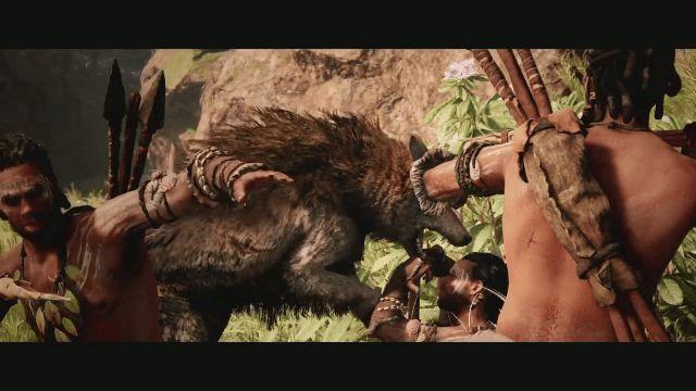 Far Cry Primal Direwolf Attack
