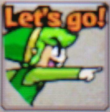 ZeldaTri Force Heroes Placard Emotes Let's Go