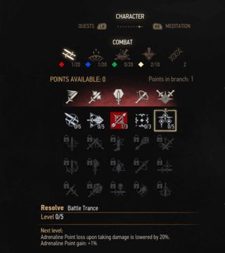 witcher 3 battle trance skill tree
