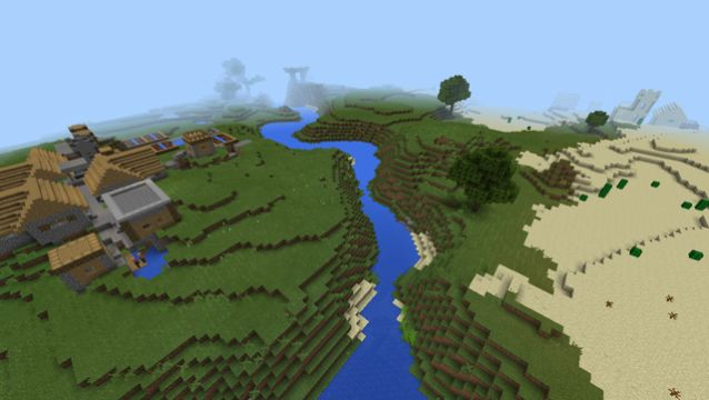 minecraft seed spawn near emerald