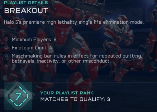 Halo 5 rank placement