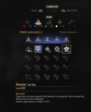 witcher 3 axii sign skill tree
