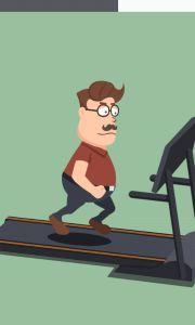 Treadmill minigame