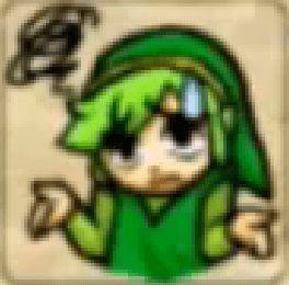 Zelda Tri Force Heroes Placard Emote Shrug
