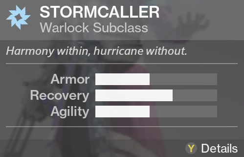 Destiny stormcaller subclass