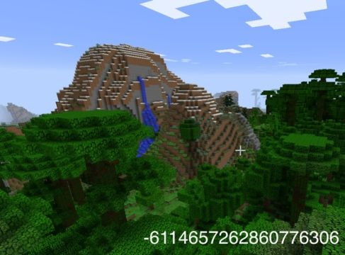 Minecraft seed for the bold at heart who don't mind a short walk to paradise.