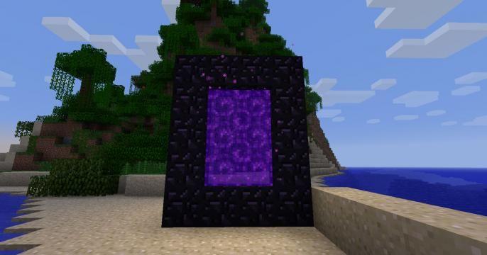 lit nether portal