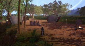 The Taipii basecamp on the isle of Kasau.