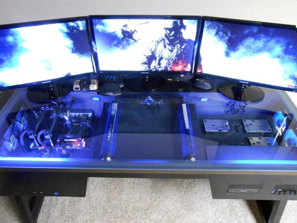 best gamer setups and furniture. Black Bedroom Furniture Sets. Home Design Ideas