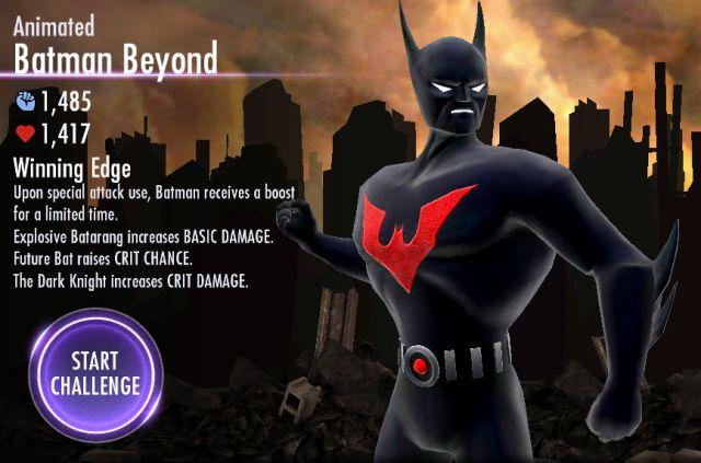 Injustice mobile animated batman beyond challenge mode injustice