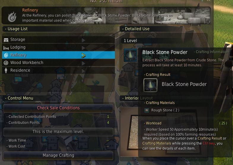 Craft Black Stone Armor Bdo