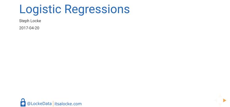 Logistic regressions (in R)
