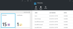 Azure Automation Modules facility