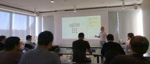 SQLSaturday Portugal - Steph Locke presenting Agile BI