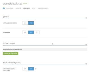 azure - configure, manage domain
