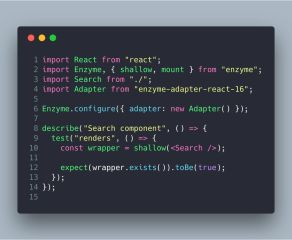 How to Test React Components using Jest and Enzyme – Bits and Pieces