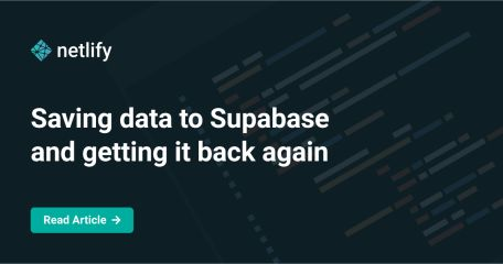 Saving data to Supabase and getting it back again
