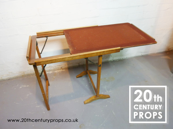 1: Folding card table