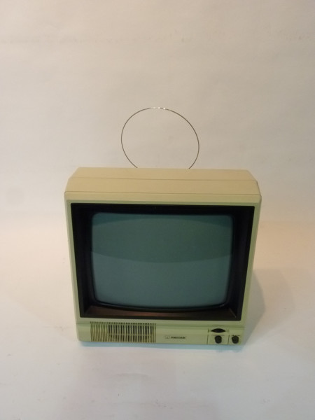 1: White Portable 1990's TV