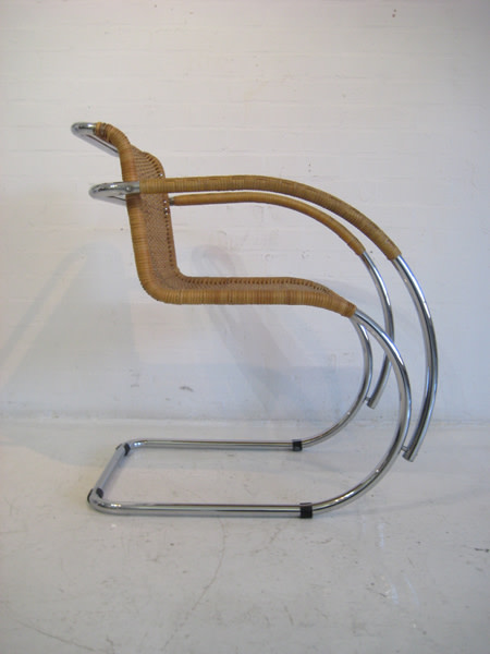 2: Cantilever chairs designed by Mies van der Rohe