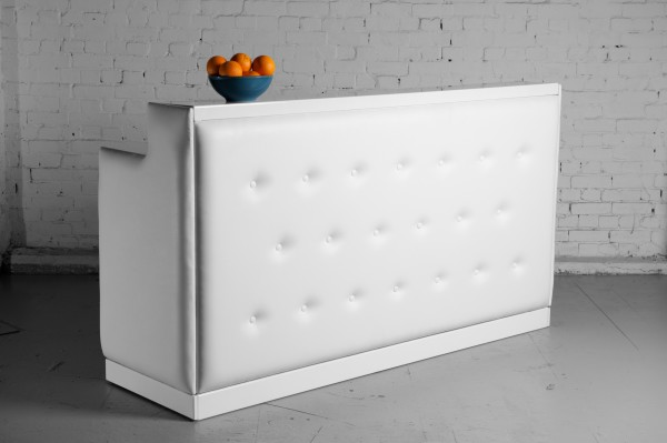 3: White padded bar long