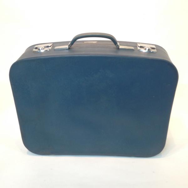 3: Blue Soft Leather Medium Suitcase