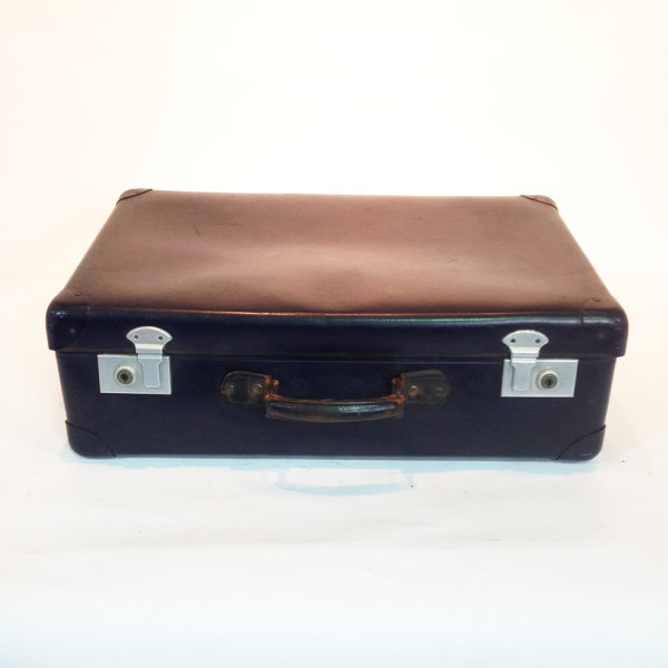 1: Blue Hard Shell Suitcase