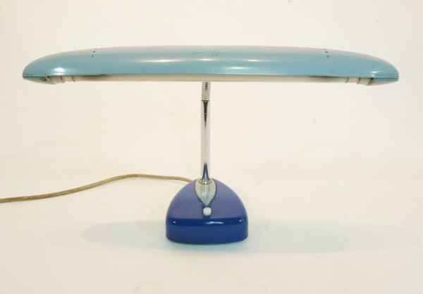 1: Pale Blue Vintage Low Light Desk Lamp