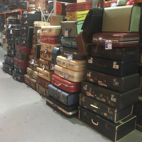 3: Stacks of Vintage Luggage