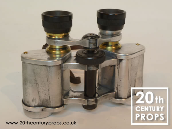 2: Vintage polished chrome binoculars