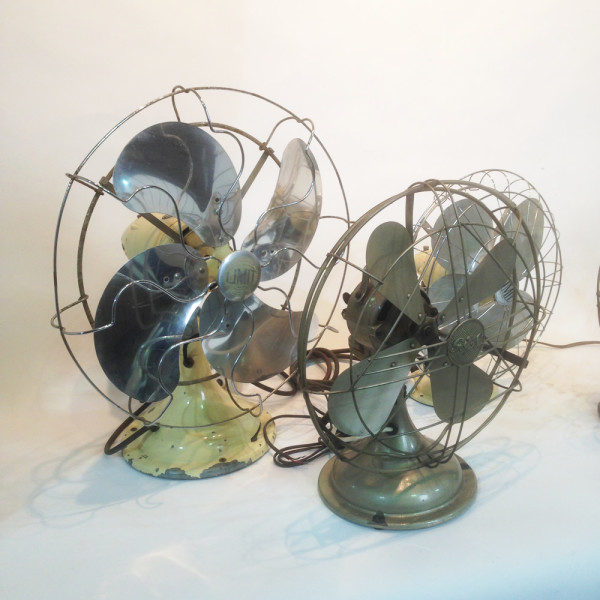 4: Vintage industrial desk fan - Bronze