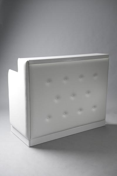 3: White padded bar short
