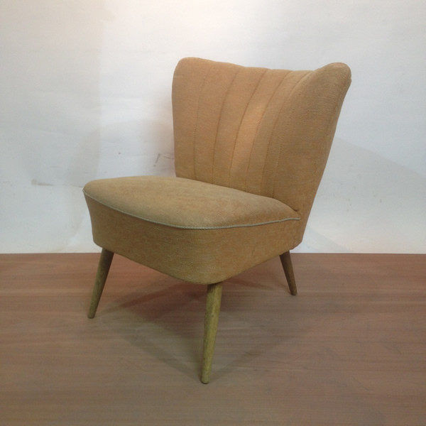 3: 1950's Mid-Century Cocktail Lounge Chair