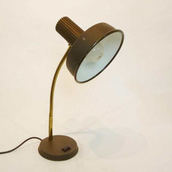 2: Brown Posable Desk Lamp