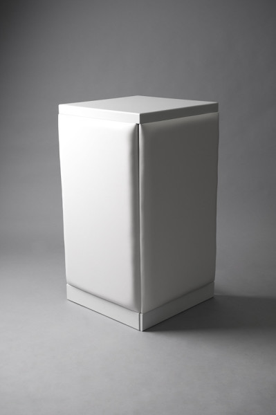 2: White padded bar corner plinth