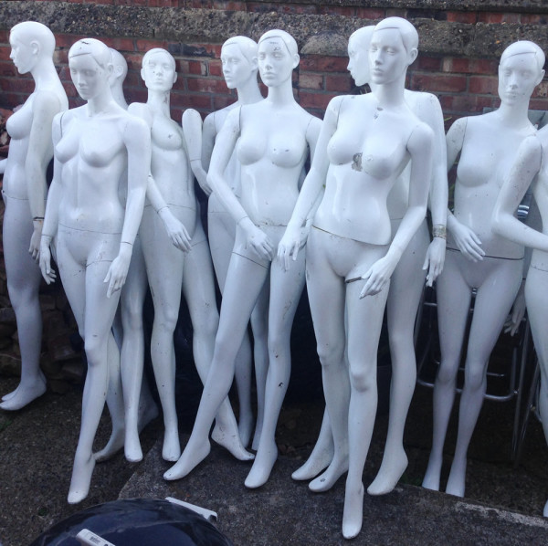 1: Collection of female mannequins