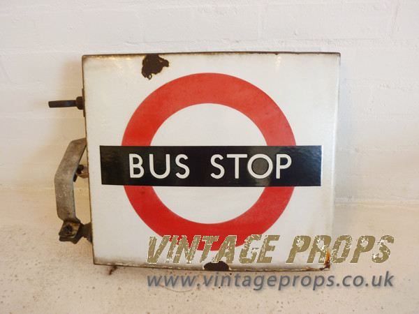 1: Enamel Bus Stop Sign