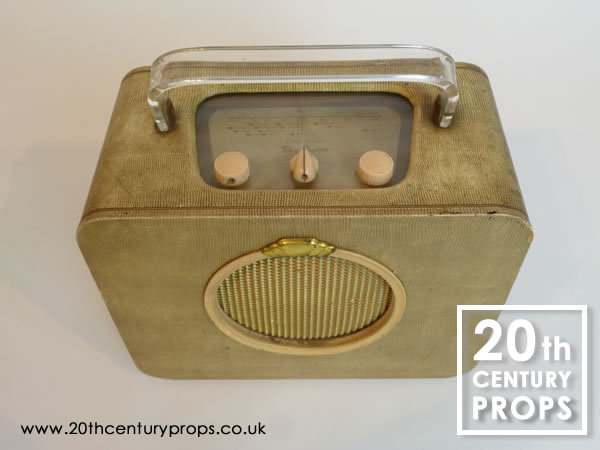 1: Vintage portable radio