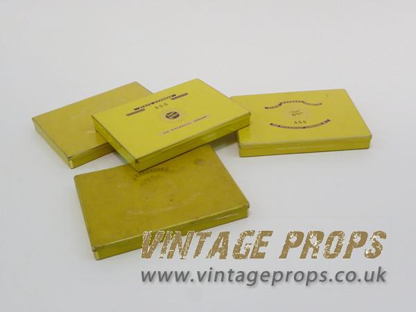 2: Tin cigarette boxes