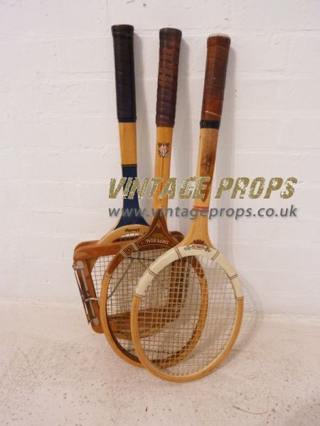 2: Vintage wooden tennis rackets