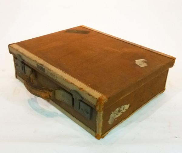 2: Brown Canvas Briefcase
