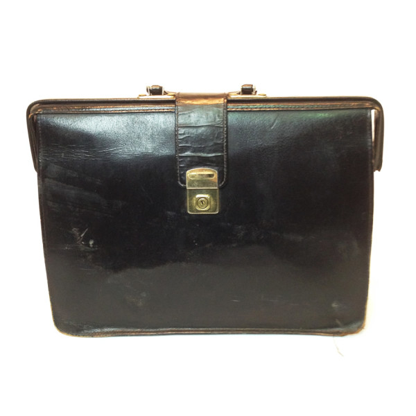 4: Black Leather Top Opening Briefcase